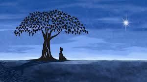 méditation sous un arbre